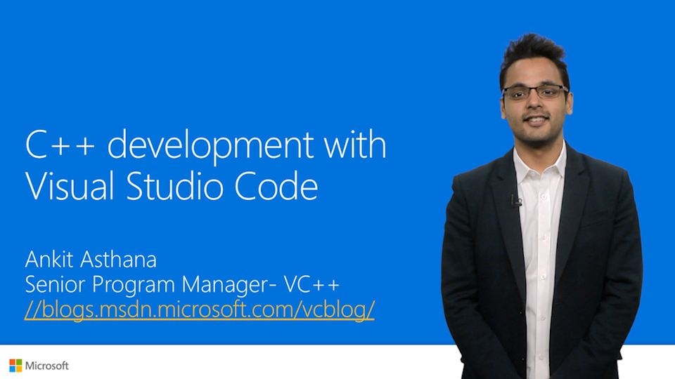 C++ development with Visual Studio Code