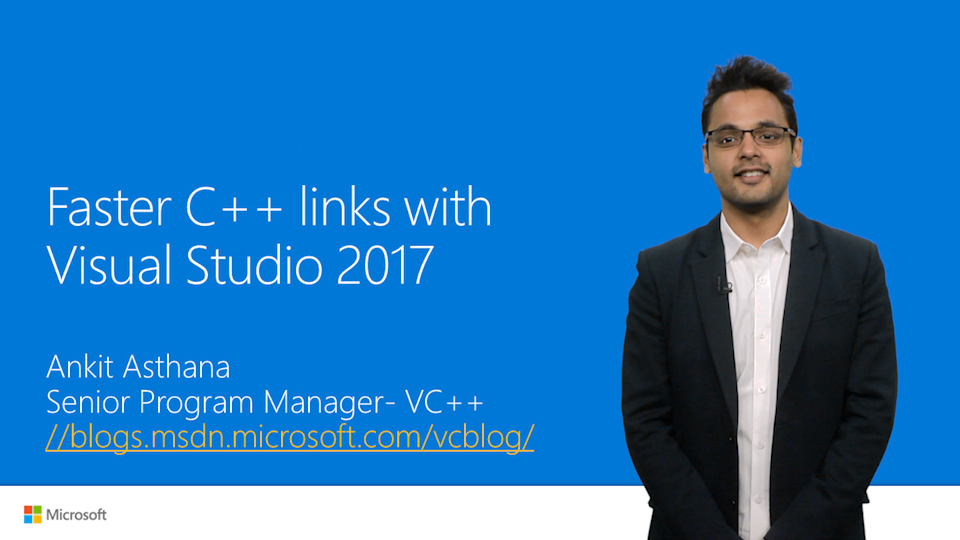 Faster C++ Links with Visual Studio 2017