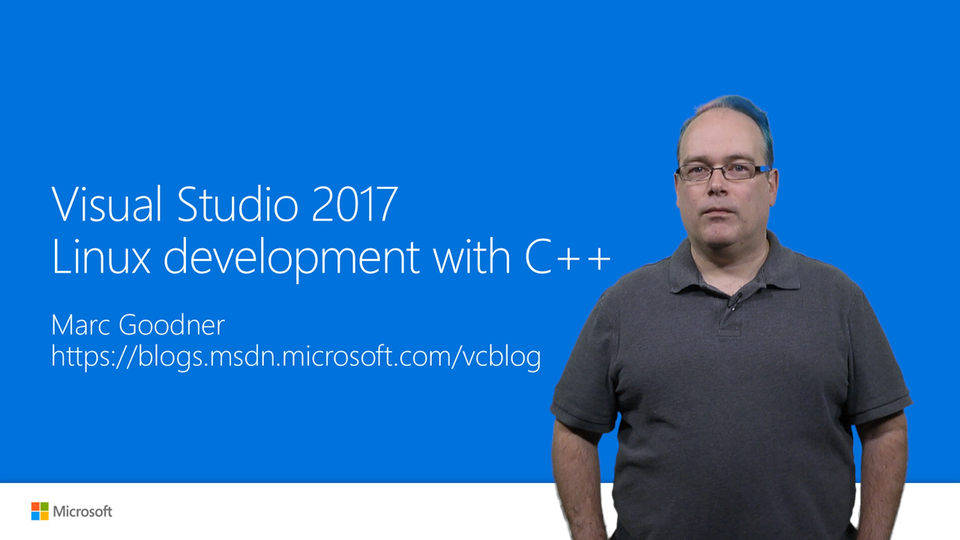 Visual Studio 2017 Linux development with C++