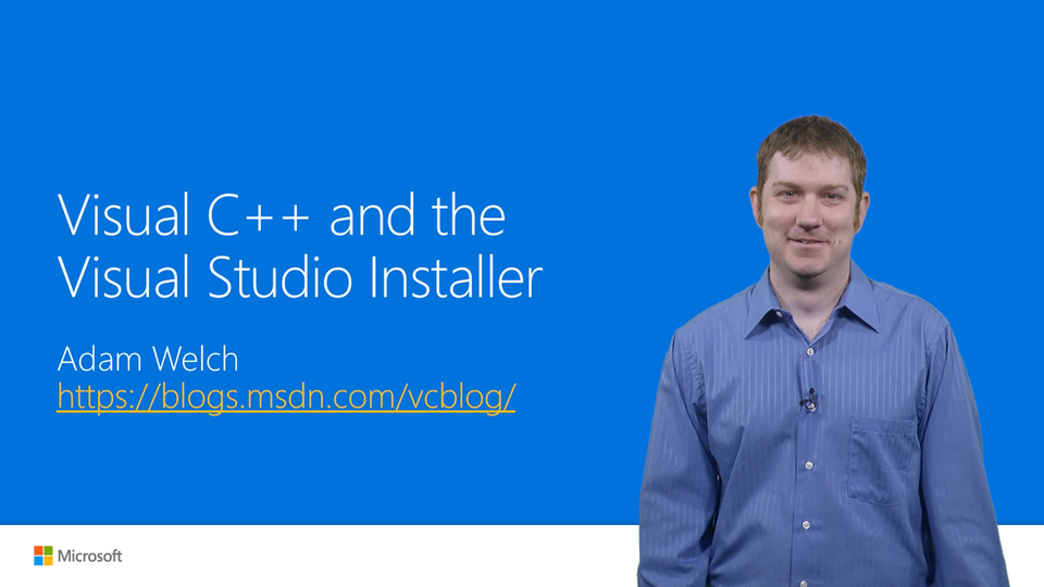 Visual C++ and the Visual Studio Installer