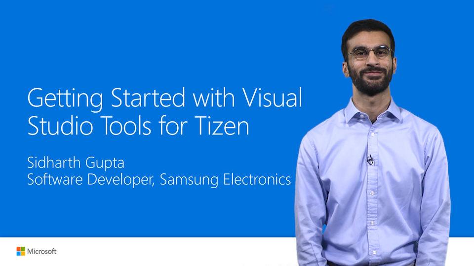 Getting Started with Visual Studio Tools for Tizen (Preview)