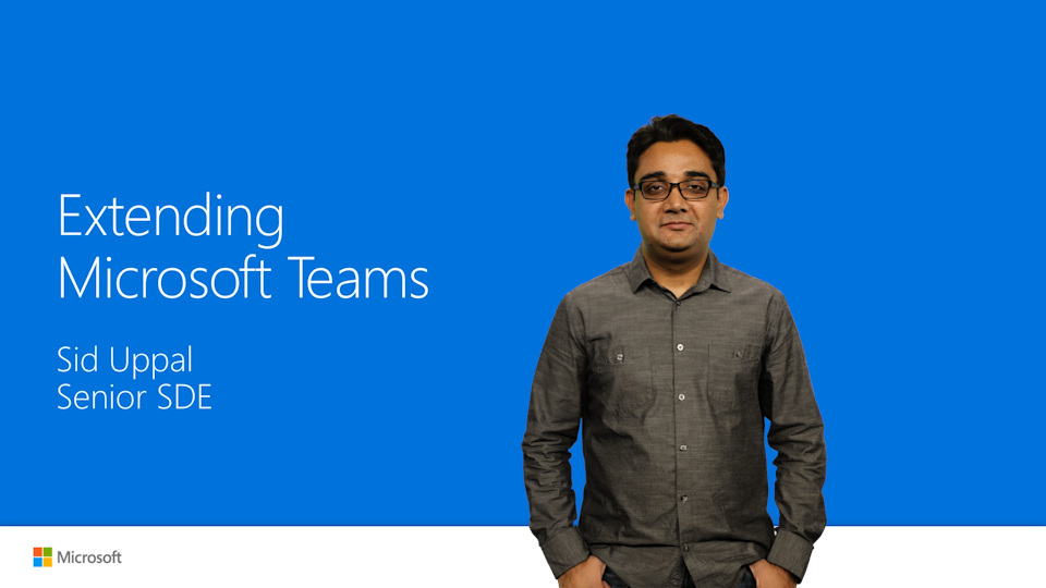 Extending Microsoft Teams