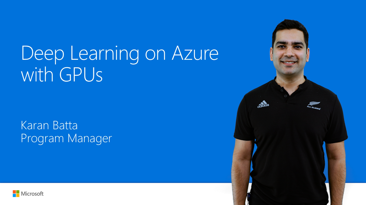 Deep Learning on Azure with GPUs