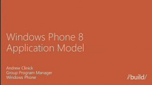 Windows Phone 8: Application Model