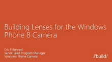 Windows Phone 8: Photo and Lens Apps