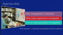 How to make your applications manageable