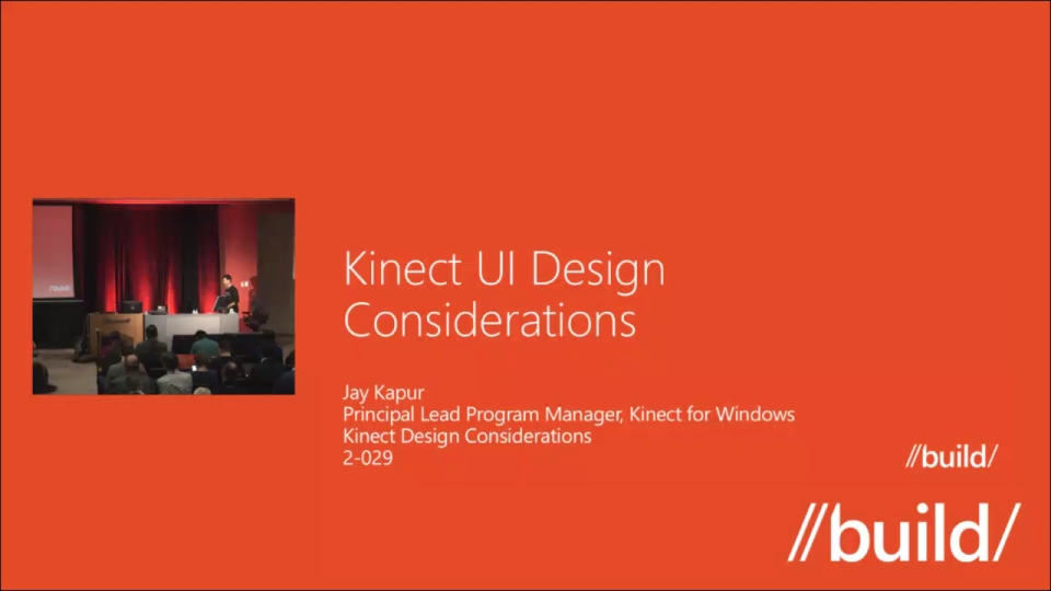 Kinect Design Considerations
