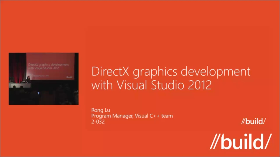 DirectX Graphics Development with Visual Studio 2012