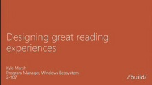 Designing great reading experiences