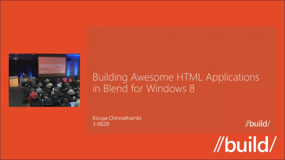 Building Awesome HTML apps in Blend for Windows 8 (Repeat)