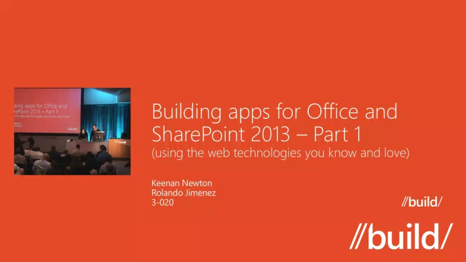 Building apps for Office and SharePoint 2013 using the web technologies you know and love, Part 1