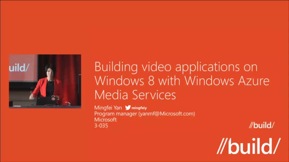 Building Rich Media Applications on Windows 8 with Windows Azure Media Services
