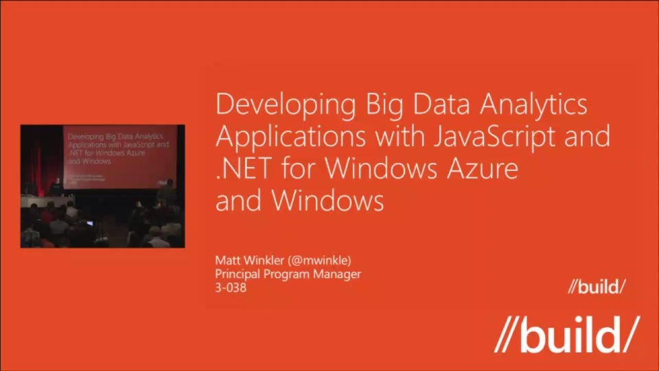 Developing Big Data Analytics Applications with JavaScript and .NET for Windows Azure and Windows