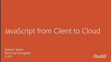 Javascript from client to cloud with Windows 8, Node.js, and Windows Azure