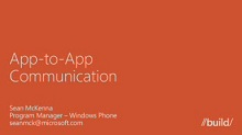 Windows Phone 8: App to App Communication
