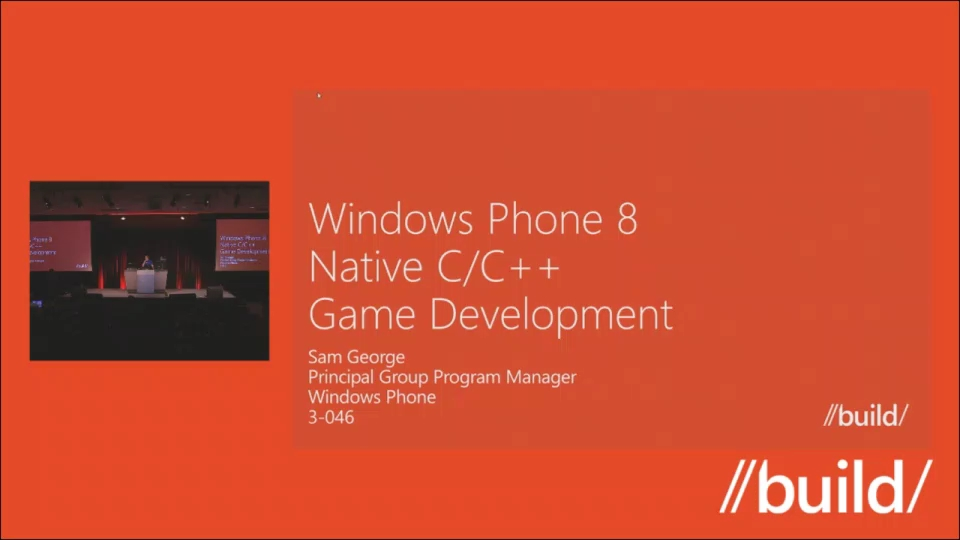 Windows Phone 8: Native C/C++ Game Development (Repeat)
