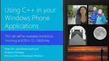 Windows Phone 8: Using C++ in your Applications