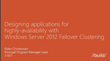 Developing highly-available, scale-out applications for Windows Server 2012