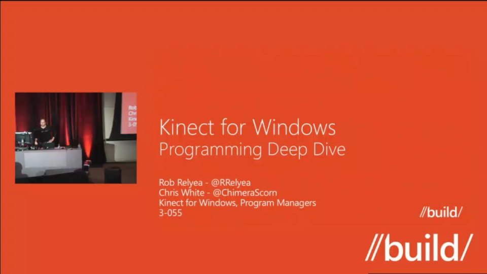 Kinect for Windows Programming Deep Dive