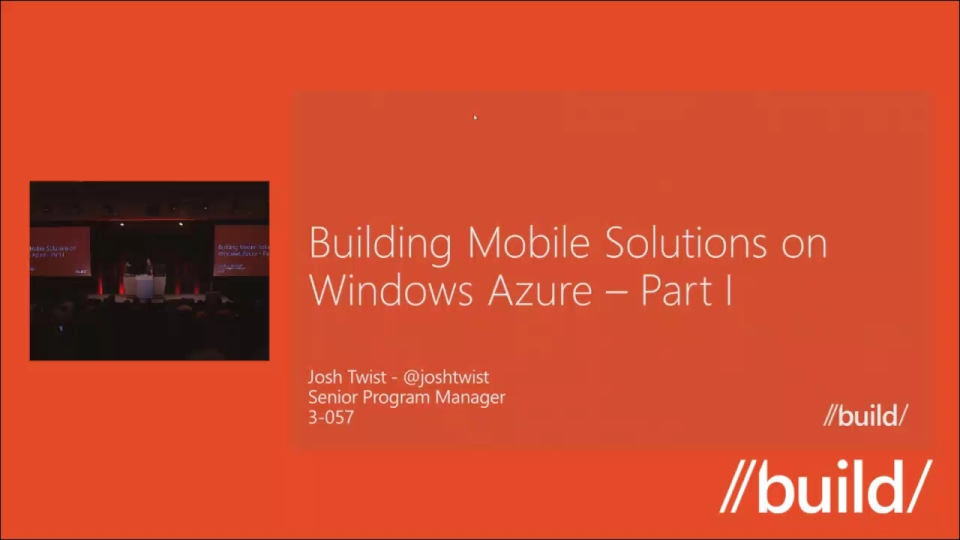 Developing Mobile Solutions with Windows Azure Part I