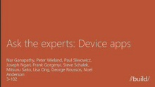 Ask the experts panel: Device apps