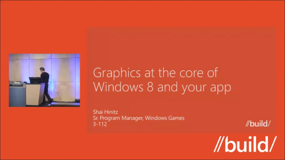 Graphics at the core of Windows 8 and your app