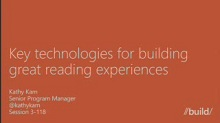 Key technologies for building great reading experiences