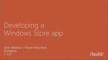 Developing a Windows Store app