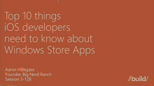 Top tips for iOS devs building Windows Store apps