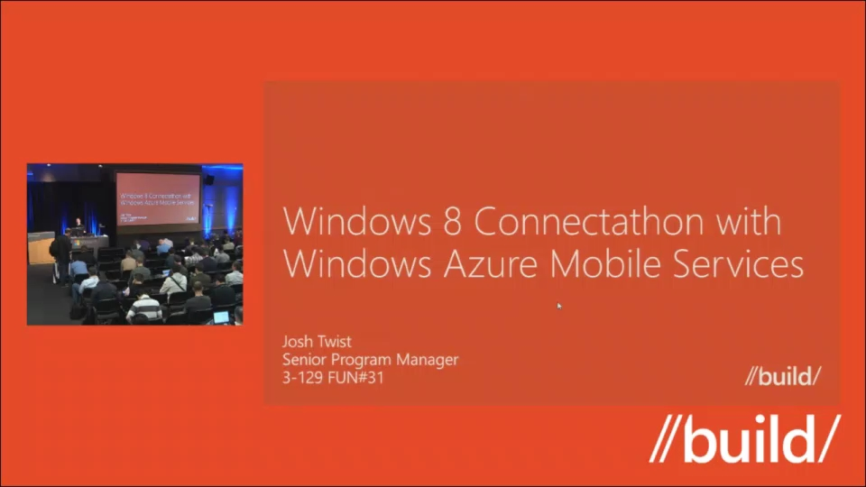 Windows 8 Connectathon with Windows Azure Mobile Services