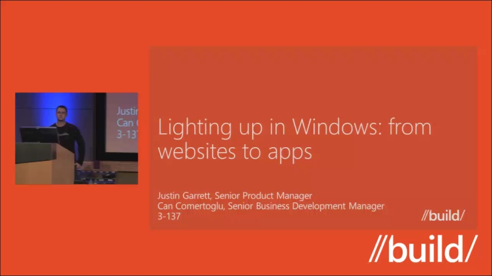 Lighting up Windows: From websites to apps