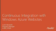 Continuous Integration with Windows Azure Websites