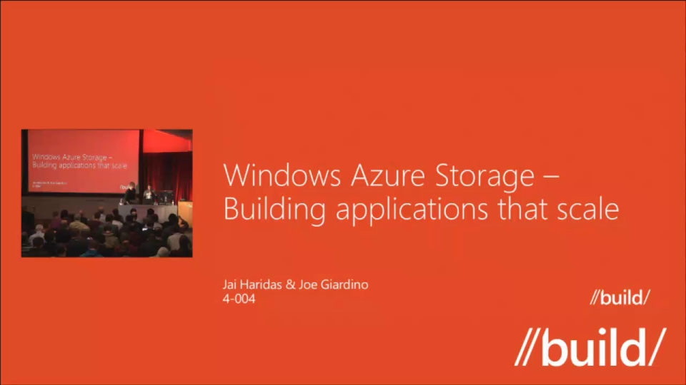 Windows Azure Storage – Building applications that scale