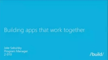 Building Apps that Work Together