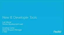 New Internet Explorer Developer Tools
