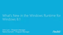 What's New in Windows Runtime for Windows 8.1