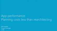App Performance: Planning Costs Less Than Rearchitecting
