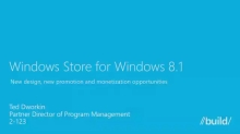 Windows Store Overview for Windows 8.1: New Design, New Promotion and Monetization Opportunities
