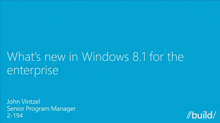 Windows 8.1 in the Enterprise