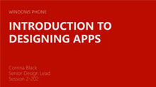 Windows Phone: Design for Developers