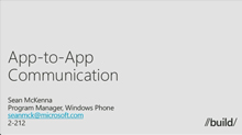 Windows Phone: App-to-App Communications