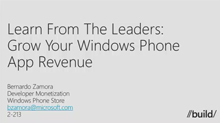 Windows Phone: Maximizing App Revenue