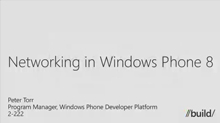 Windows Phone: Networking