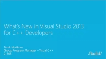 What's New in Visual Studio 2013 for C++ Developers