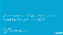 What's New in Blend for HTML Developers