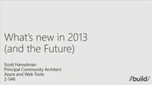 What's New in ASP.NET and Visual Studio 2013