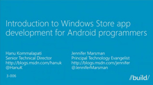 Introduction to Windows Store App Development for Android Programmers
