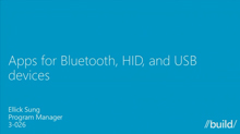 Apps for Bluetooth, HID, and USB Devices
