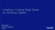 Cutting Edge Games on Windows Tablets