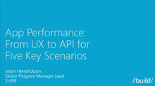 App Performance: From UX to API for 5 Key Scenarios